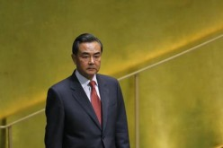 Chinese Foreign Minister Wang Yi before addressing the 69th United Nations General Assembly in 2014.