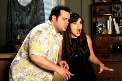 Josh Gad And Zooey Deschanel.