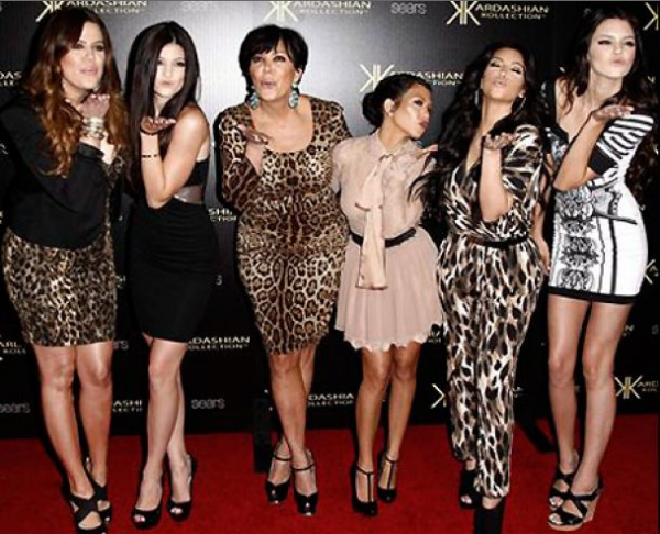 """Keeping Up With The Kardashians""matriarch Kris Jenner poses with her daughters Khloe Kardashian, Kylie Jenner, Kourtney Kardashian, Kim Kardashian and Kendall Jenner."