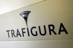 The Trafigura logo is pictured in the company's offices in Geneva. The trading firm has been implicated in a major trading scandal costing tens of millions of dollars.