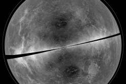 A projection of the radar data of Venus collected in 2012.