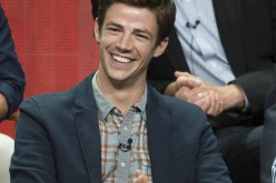 Cast member Grant Gustin attends a panel for The CW television series