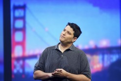 Terry Myerson, vice president of the operating systems group at Microsoft, speaks on stage during the company's