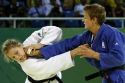 Ronda Rousey during a Judo Match