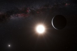 This artist's impression shows the planet orbiting the star Alpha Centauri B, a member of the triple star system that is the closest to Earth in this image released on October 17, 2012. Alpha Centauri B is the most brilliant object in the sky and the othe