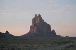 Shiprock, New Mexico, is in the Four Corners region where an atmospheric methane