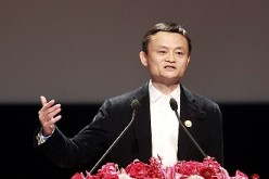 Alibaba Group Executive Chairman Jack Ma delivers a keynote speech at the Cross-Strait CEO Summit in Taipei last year.