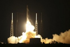 The unmanned Falcon 9 rocket launched by SpaceX on a cargo resupply service mission to the International Space Station lifts off from the Cape Canaveral Air Force Station in Florida, Jan. 10, 2015.