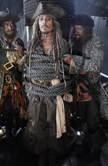 "Johnny Depp reprises his role Captain Jack Sparrow in ""Pirates Of The Caribbean: Dead Men Tell No Tales."""