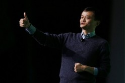 Alibaba Group Holding Ltd. chairman Jack Ma gestures during a talk by Our Hong Kong Foundation in Hong Kong, Feb. 2, 2015.