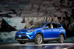 The new Toyota Rav4 Hybrid is unveiled at the 2015 New York International Auto Show on April 2.