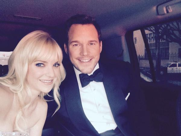 """Jurassic World"" star Chris Pratt, wife Anna Faris"