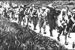 Red Army troops traveled by foot from Yangtze River to Shaanxi Province for two years.
