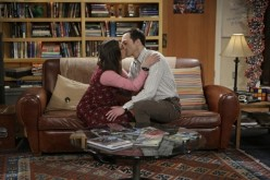 Mayim Bialik and Jim Parsons as Amy and Sheldon
