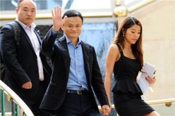 Alibaba's founder and chairman Jack Ma in Singapore during an IPO roadshow.