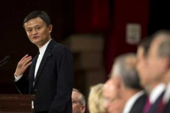 Jack Ma speaks to the audience at The Economic Club of New York on June 9, 2015.
