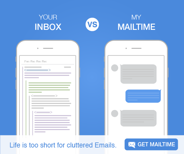 MailTime turns a typical email into a chat session