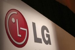 The LG company logo is seen following an event during the annual Consumer Electronics Show.