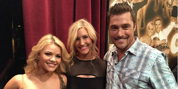 Witney Carson, Whitney Bischoff and Chris Soules