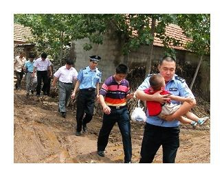 After police rescue children, they are brought to a welfare institution to be cared for in the absence of their parents.