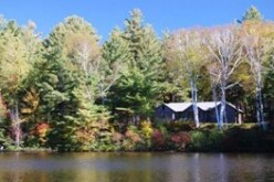 A log cabin is one of the houses located in the New York property in the Adirondacks bought by Alibaba CEO Jack Ma.