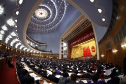 The third plenary meeting of the third session of China's 12th National People's Congress (NPC) is held at the Great Hall of the People in Beijing, on March 12, 2015.