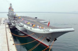 The naval vessels are continually seen as a form of China's power display in the South China Sea region.