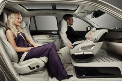 Volvo showcases new baby seat for enhanced safety and security