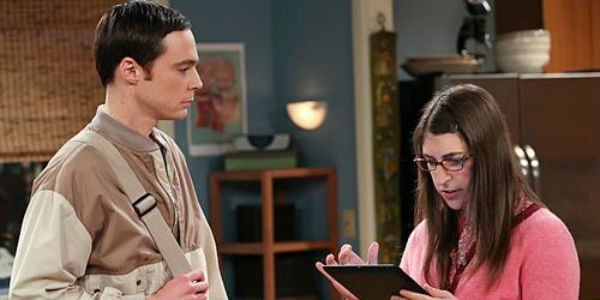 "Sheldon and Amy from ""Big Bang Theory"""