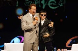 Jack Ma met with then-California Gov. Arnold Schwarzenegger, who presented him with a leather jacket and black sunglasses during a trip to China in 2010 to represent the