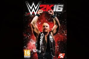 "Steve Austin on the cover of ""WWE 2K16"" as a way to capture the audience."