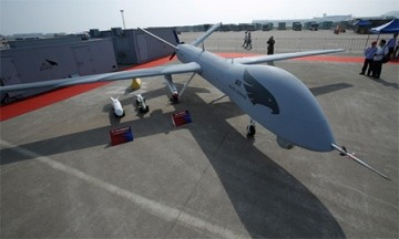 A Yilong drone on display is only one of the vast army of drones being developed by China.