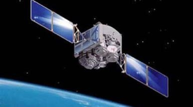 An artist's concept of China's satellite from the homegrown Beidou Navigation System.