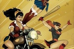 Batgirl, Wonder Woman, and Supergirl are three of the kick-ass superheroines featured in the new comic book series