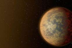 This artist's rendition shows one possible appearance for the planet HD 219134b, the nearest rocky exoplanet found to date outside our solar system.