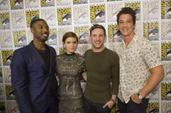 Josh Trank's 'Fantastic Four' stars Michael B. Jordan, Kate Mara, Jamie Bell and Miles Teller as Johnny Storm, Sue Storm, Ben Grimm/The Thing and Reed Richards, respectively.