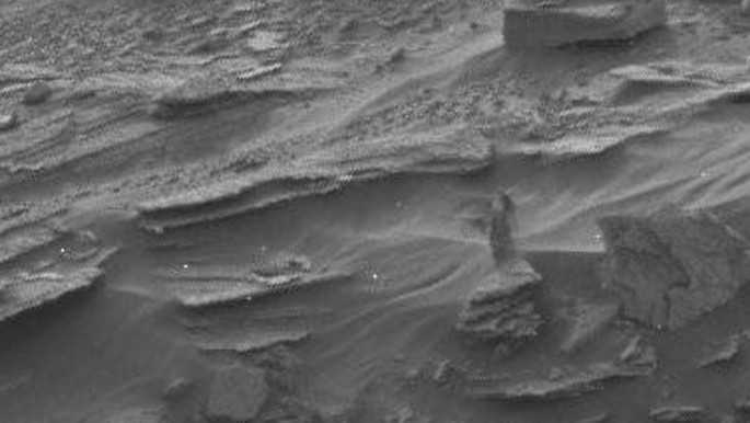"Can you see the ""cloaked woman"" on Mars in this photo?"