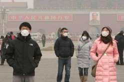 Officials from the Beijing Municipal Environmental Monitoring Center estimate that the heavy air pollution will cloud over the city until Thursday afternoon, when the cold front arrives.