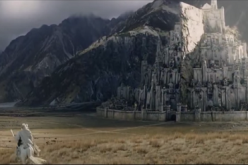 Gandalf rides to Minas Tirith in a scene from the film trilogy