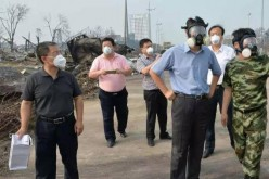 The photograph, thought to be of environmental minister Chen Jining, was first posted on Weibo.