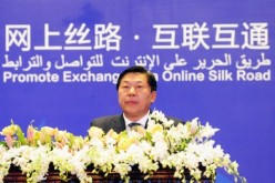 Lu Wei, minister of the Cyberspace Administration of China, delivers a keynote speech at the China-Arab States Expo Online Silk Road Forum held in Yinchuan.