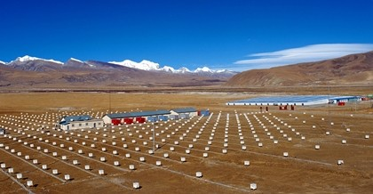 Most research on cosmic rays is done in the Yangbajain monitoring station in Tibet.