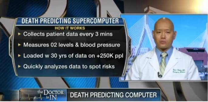 Scientists have developed a supercomputer they say can predict with 96% probability if a person is about to die.