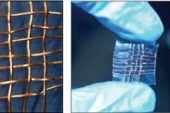 The photo shows a prototype of a smart fabric developed by scientists in the U.S. Center for Nanotechnology at NASA Ames Research Center.
