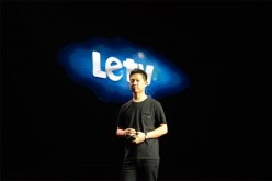 Jia Yueting, chairman and CEO of LeTV, speaks during a presentation in this undated photo.