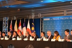 Trade ministers of 12 nations from the Pacific Rim region meet at the recent Trans-Pacific Partnership meeting to negotiate a deal.