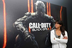 Actress Michelle Rodriguez gets hands-on with the Call Of Duty: Black Ops 3 Beta during a visit to Treyarch Studios on August 19, 2015 in Santa Monica, California.