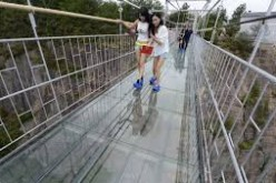 Glass walkways have become increasingly popular in Chinese scenic tourist locations.