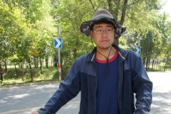 A file photo of a Teng Fei-ta, a Belgium-born Taiwanese national who cycled from Europe to China via the old Silk Road.