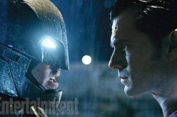 "Batman clashes with Superman in Zack Snyder's ""Batman v Superman: Dawn of Justice."""